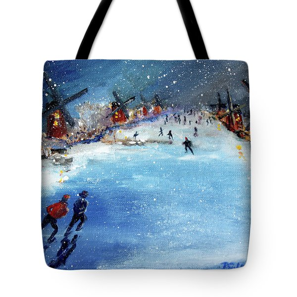 Winter In The Netherlands Tote Bag