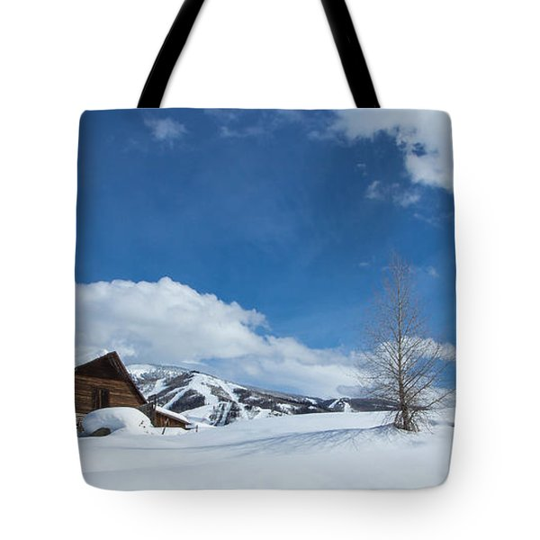 Winter In The Rockies Tote Bag