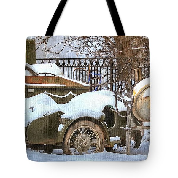 winter in the village Russian Tote Bag