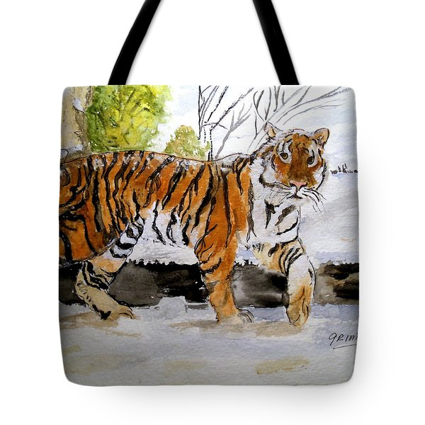 Winter In The Zoo Tote Bag