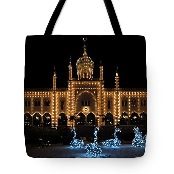 Winter In Tivoli Gardens Tote Bag