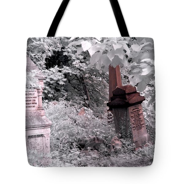 Tote Bag featuring the photograph Winter Infrared Cemetery by Helga Novelli