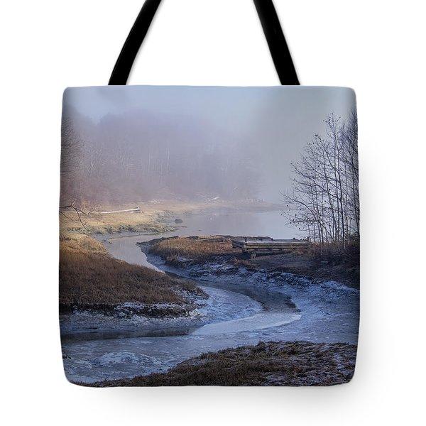 Winter Inlet Tote Bag