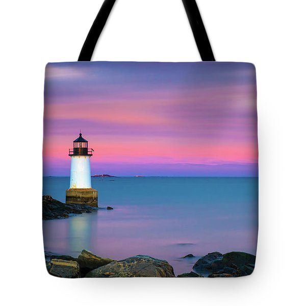 Winter Island Light 1 Tote Bag