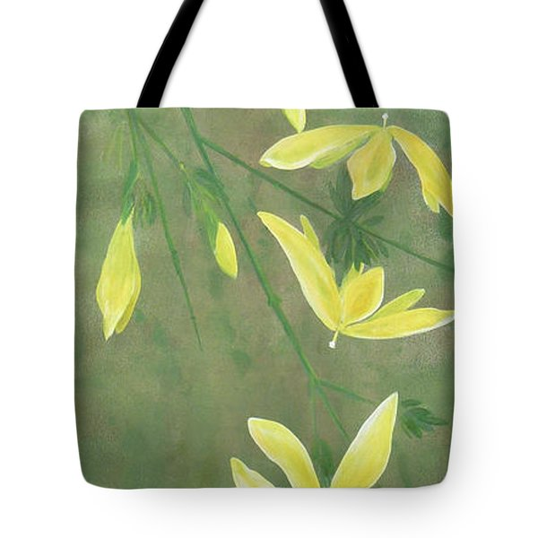 Tote Bag featuring the painting Winter Jasmine by Barbara Moignard