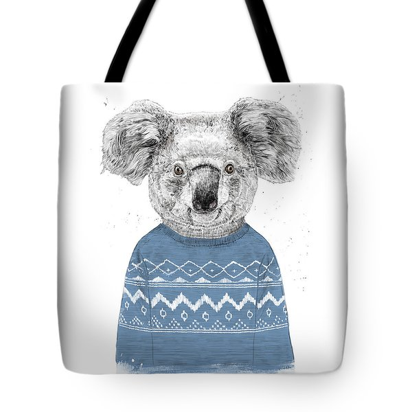 Winter Koala Tote Bag