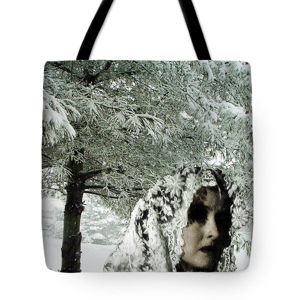 Winter Lace Tote Bag