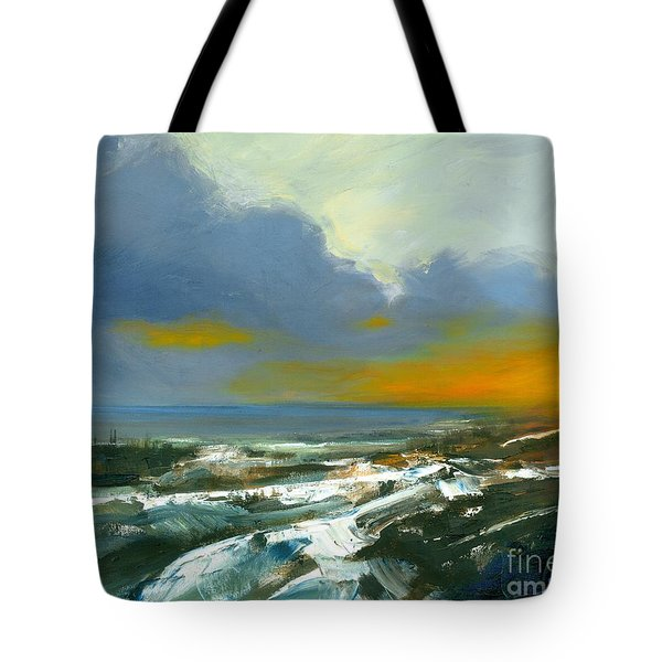Winter Lake View Tote Bag