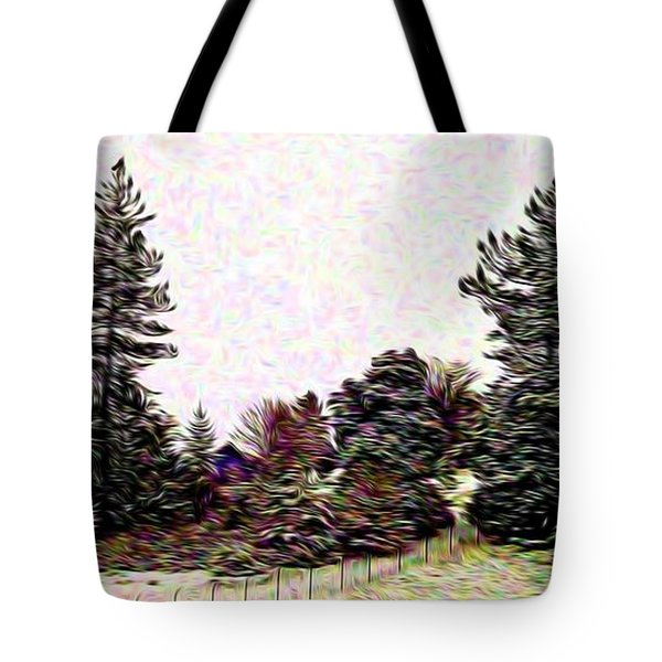 Winter Landscape 1 In Abstract Tote Bag