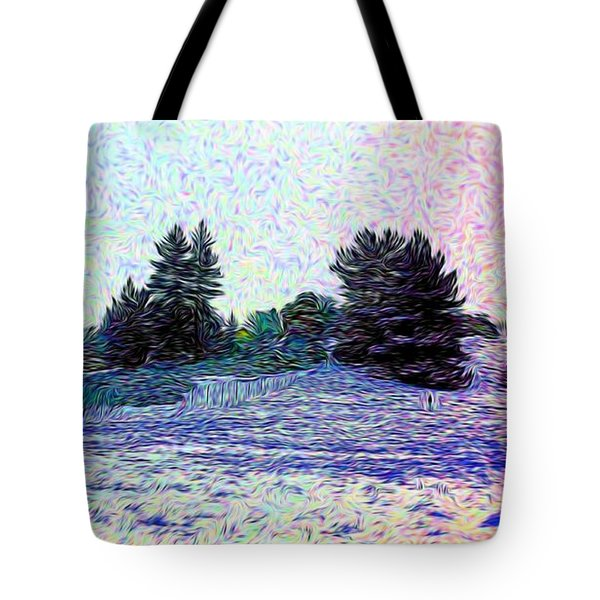 Winter Landscape 2 In Abstract Tote Bag