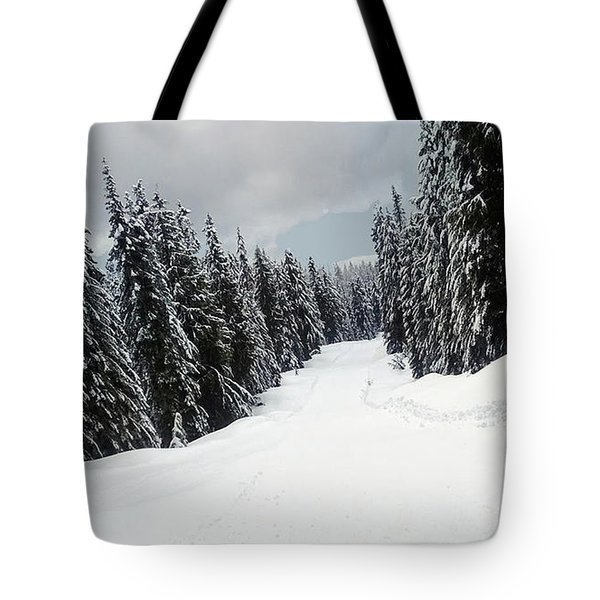 Tote Bag featuring the photograph Winter Landscape by Bill Thomson