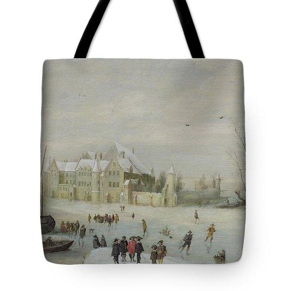 Winter Landscape Tote Bag by Barent Avercamp