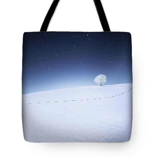 Tote Bag featuring the photograph Winter Landscape by Bess Hamiti