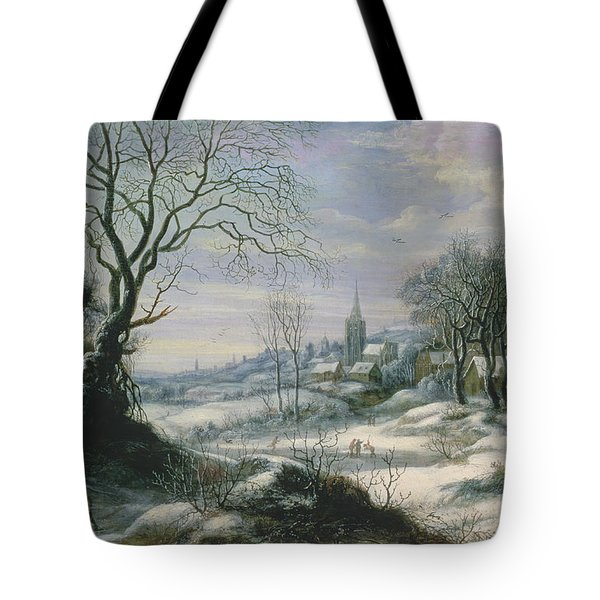 Winter Landscape Tote Bag by Daniel van Heil