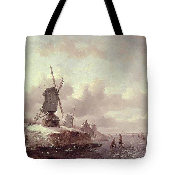 Winter Landscape Tote Bag by Frederick Marianus Kruseman