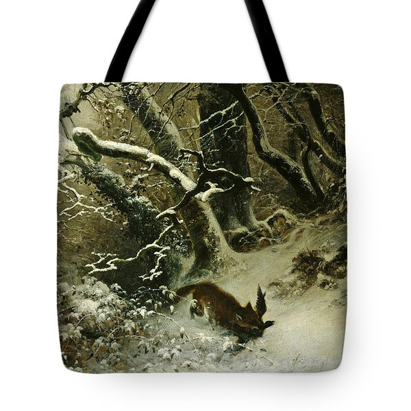 Winter Landscape Tote Bag by Ludwig Munthe