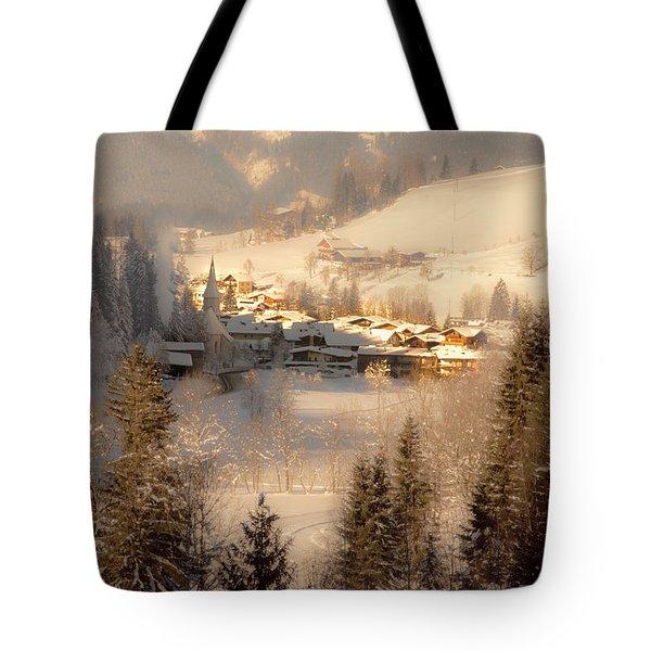 Winter Landscape Salzburger Land Tote Bag