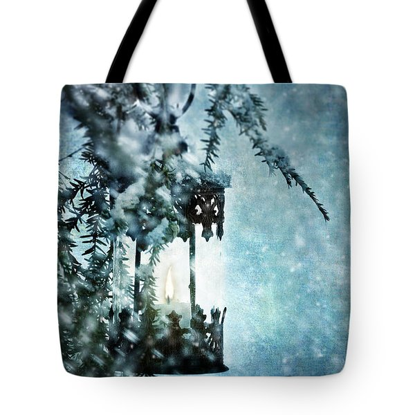 Winter Lantern Tote Bag