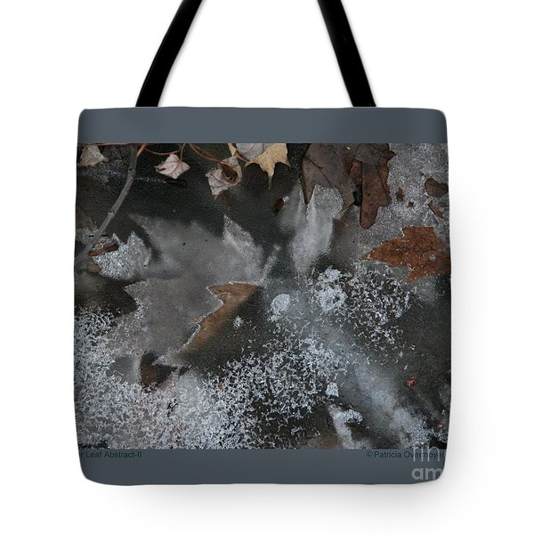 Tote Bag featuring the photograph Winter Leaf Abstract-ii by Patricia Overmoyer