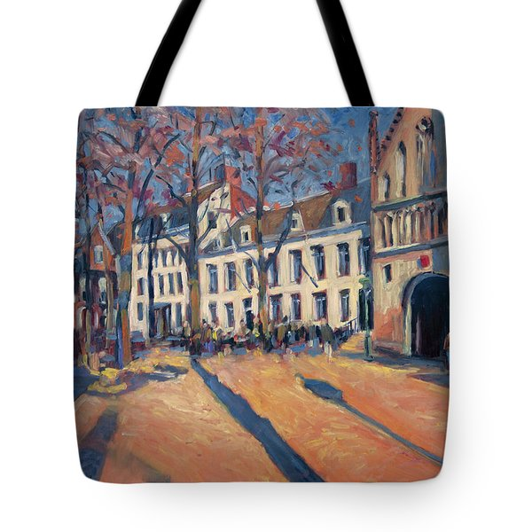Winter Light At The Our Lady Square In Maastricht Tote Bag