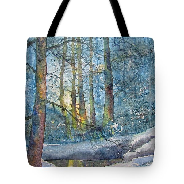 Winter Light In The Forest Tote Bag
