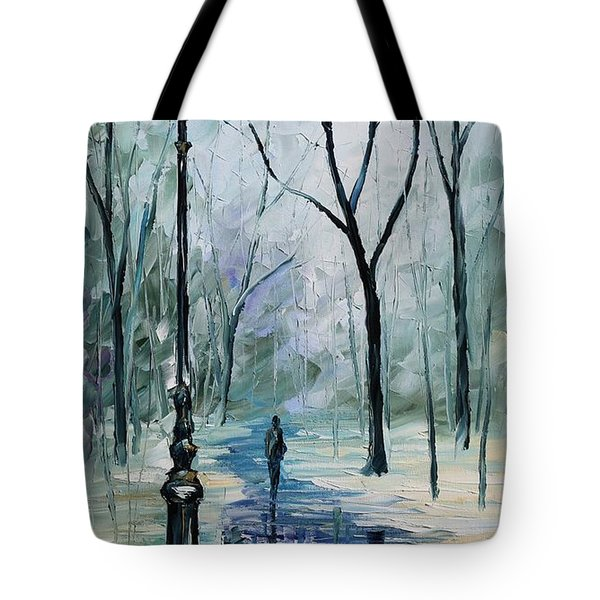 Winter Light Tote Bag by Leonid Afremov