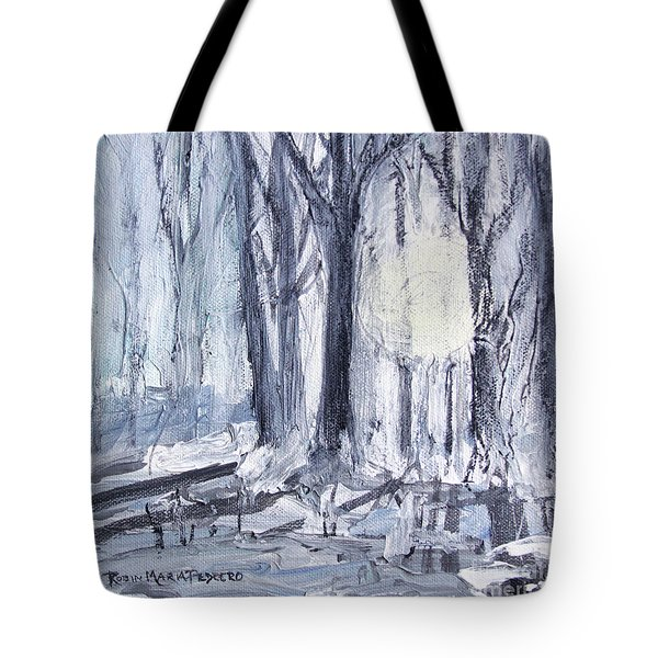 Tote Bag featuring the painting Winter Light by Robin Maria Pedrero