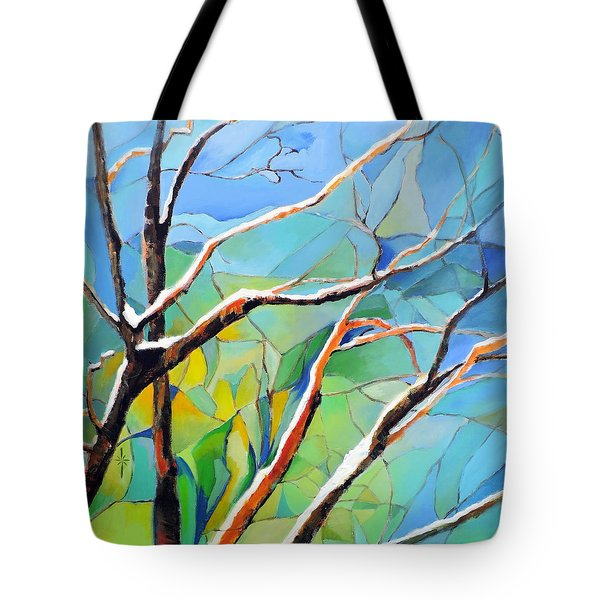 Winter Locust Tree Tote Bag