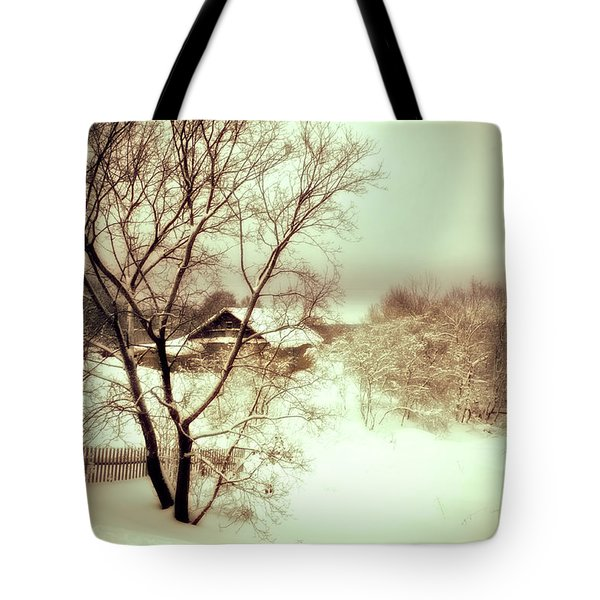 Winter Loneliness Tote Bag by Jenny Rainbow