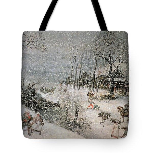 Winter Tote Bag by Lucas van Valckenborch