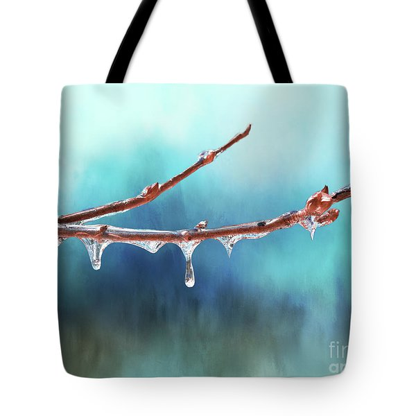 Winter Magic - Gleaming Ice On Viburnum Branches Tote Bag