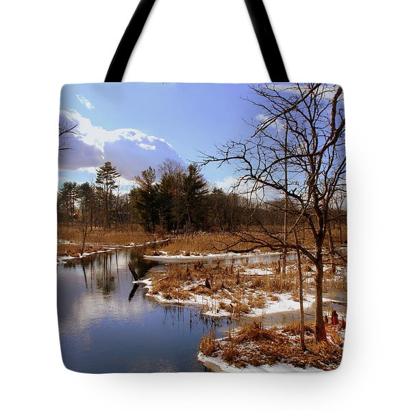 Winter Marsh Tote Bag