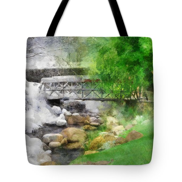 Tote Bag featuring the digital art Winter Melt To Spring by Francesa Miller