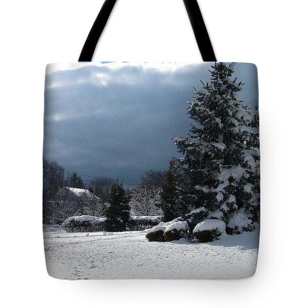 Winter Tote Bag by Mikki Cucuzzo