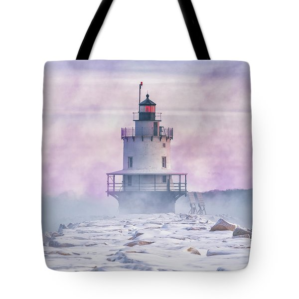Winter Morning At Spring Point Ledge Tote Bag