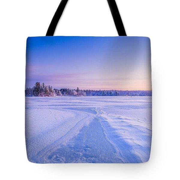 Winter Morning Baxter Lake Nh Tote Bag