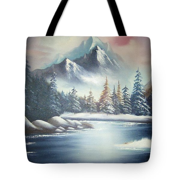 Winter Mountain Tote Bag
