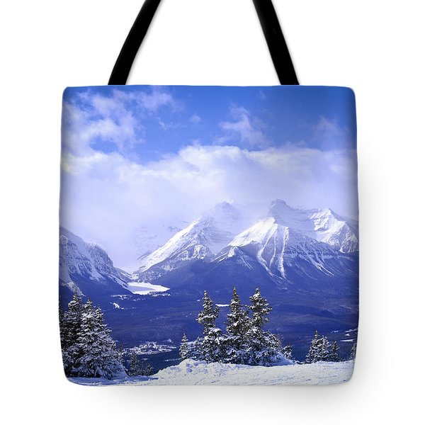 Winter Mountains Tote Bag
