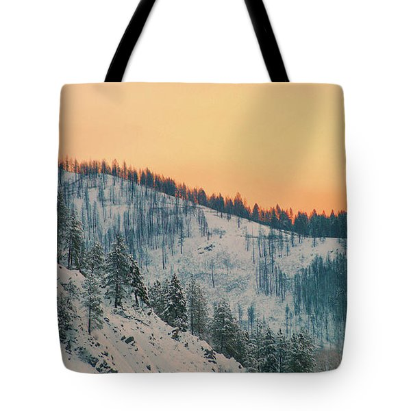 Winter Mountainscape  Tote Bag