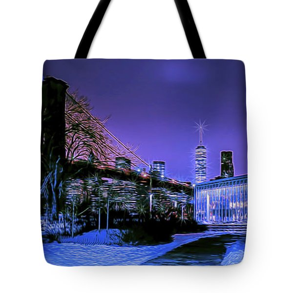 Winter Night Tote Bag