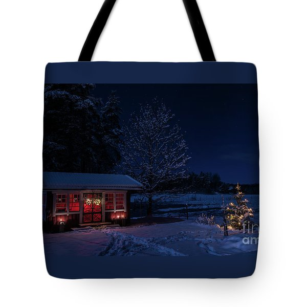 Tote Bag featuring the photograph Winter Night by Torbjorn Swenelius