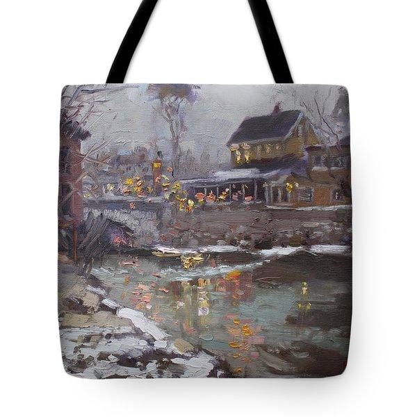 Winter Nocturne In Williamsville Tote Bag