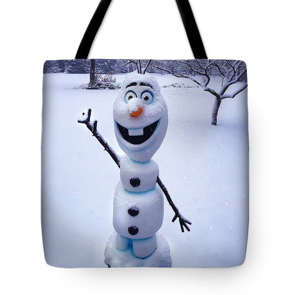 Winter Olaf Tote Bag by Doug Kreuger