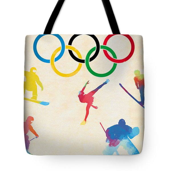 Winter Olympics Games Tote Bag