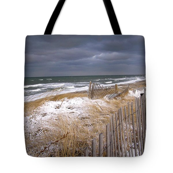 Winter On Cape Cod Tote Bag by Charles Harden