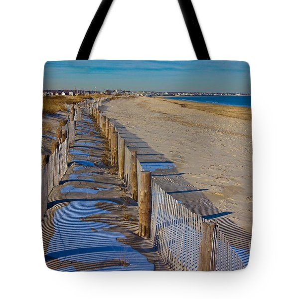 Winter On Duxbury Beach Tote Bag