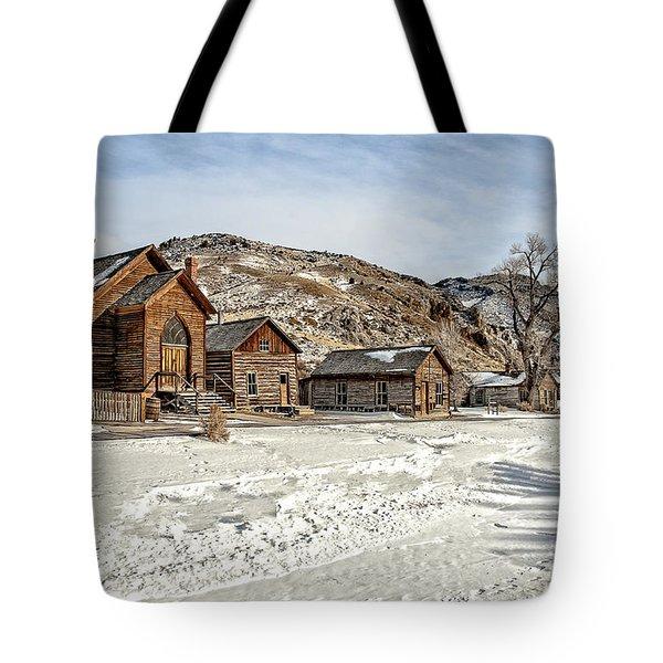 Winter On Main Street Tote Bag