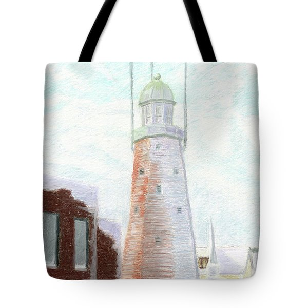 Winter On Munjoy Hill Tote Bag