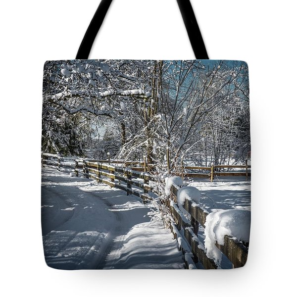 Winter On Ruskin Farm Tote Bag