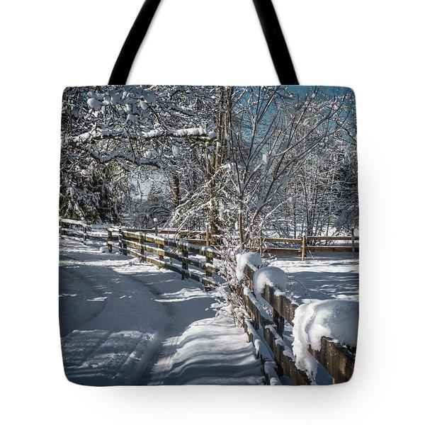 Winter On Ruskin Farm Tote Bag